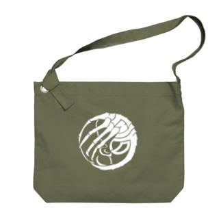 SF家紋「顔に壽海老」 Big shoulder bags
