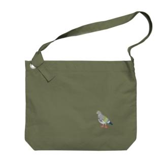 ハトをおそばに Big shoulder bags