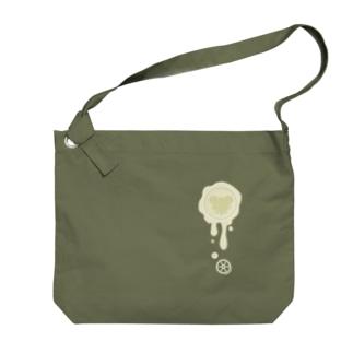 チョコ好きさんへ♪【ホワイトチョコ】healing-honey蝋封風ロゴモチーフ Big shoulder bags