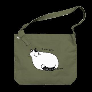 ほっかむねこ屋のおおきなねこ Big shoulder bags