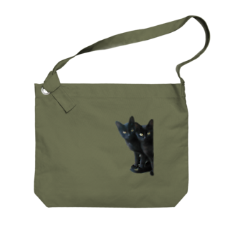 ちばっちょ【ち畳工房&猫ねこパラダイス】の黒猫は見た Big shoulder bags