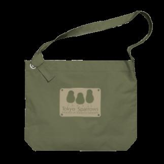 aliveONLINE SUZURI店の東京すずめ Big shoulder bags