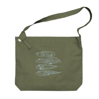 オタマジャクシ Big shoulder bags