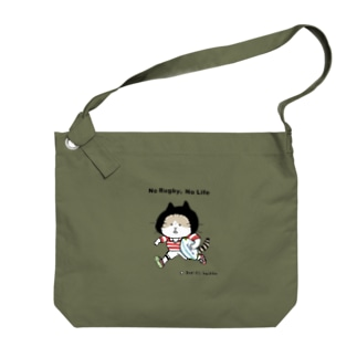 ラグビーねこ Big shoulder bags
