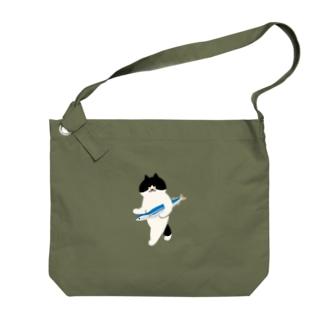 盗んだサンマと歩き出す猫 Big shoulder bags