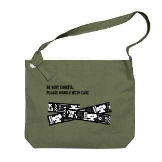 FRAGILE(黒) Big shoulder bags