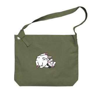 ほんのうをわすれた動物たち「ねこ」 Big shoulder bags
