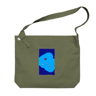 るんるんハート Big shoulder bags