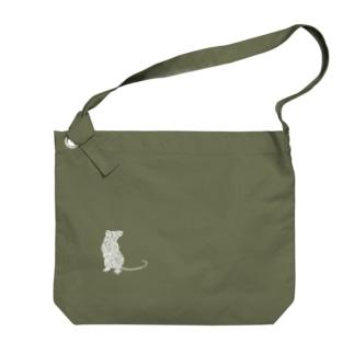 子(White) Big shoulder bags