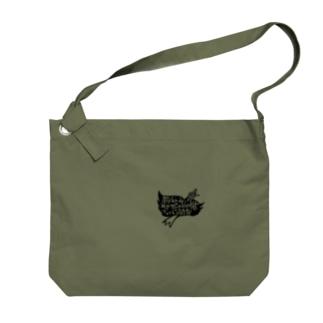 鳥ロゴ Big shoulder bags