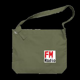 アメリカンベースのFM ラジオ  Big shoulder bags