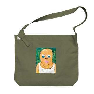 ちんあごおじさん Big shoulder bags
