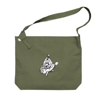 巣穴寝室のアナグマ Big shoulder bags