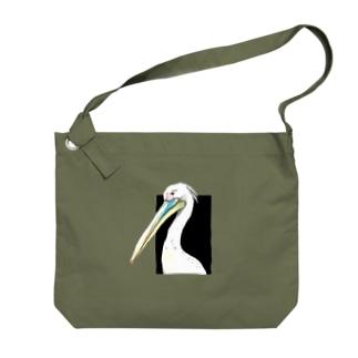 モモイロペリカン Big shoulder bags