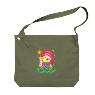 アマビエサマ Big shoulder bags