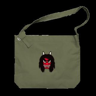 くま五郎本舗の迫力のあるなまはげ Big shoulder bags