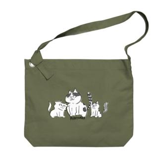 猫遊亭一門 Big shoulder bags
