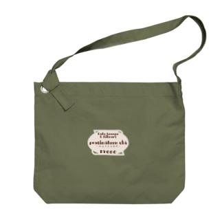 ロゴ Big shoulder bags