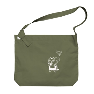 鍋猫ぬき Big shoulder bags
