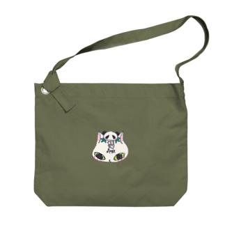 猫パンダ Big shoulder bags