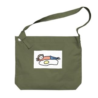 牡蠣が好きの人をダメにする目玉焼き Big shoulder bags