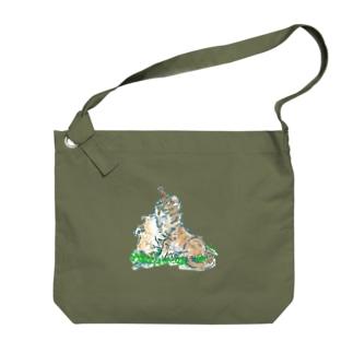 猫ちゃん 親子 Big shoulder bags