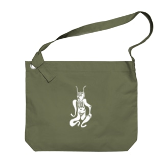 角大師 白 Big shoulder bags