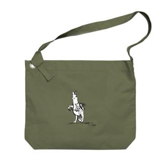 管理係のアナウサギ Big shoulder bags
