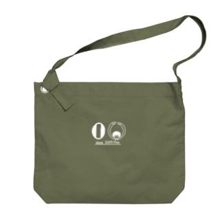 令和のくるくるパーマ(白線) Big shoulder bags