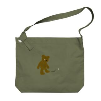 ZOZI SHOPのたそかれテディベア Big shoulder bags