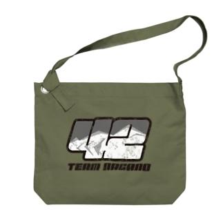 Team長野オフィシャルSUZURIショップのゼッケンロゴ ビンテージVer Big shoulder bags