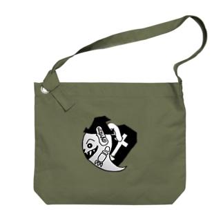ばけを ハロウィン デザイン Big shoulder bags
