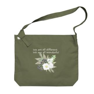 トルコキキョウ wonderful ver. 濃い色 Big shoulder bags