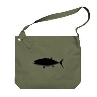 クロマグロのクマロくん^^ Big shoulder bags
