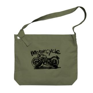 モーターサイクル線 Big shoulder bags