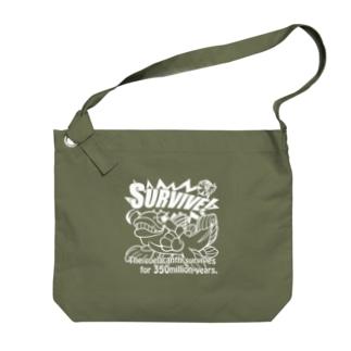 シーラカンス・ホワイト Big shoulder bags