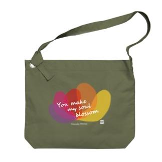 ファミリーハウス<チャリティ>花 Big shoulder bags