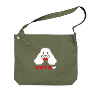 アメリカンコッカードット絵 Big shoulder bags
