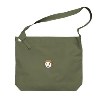 ワンポイント憎めないブス Big shoulder bags