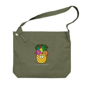 パイナップルジュース/モンスター Big shoulder bags