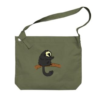 シロガオサキのモップくん Big shoulder bags