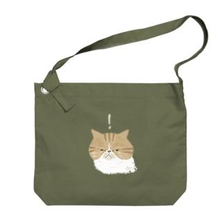 何かを見つけたクリームエキゾ Big shoulder bags