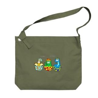 SHUNKAの恐竜/モンスター Big shoulder bags