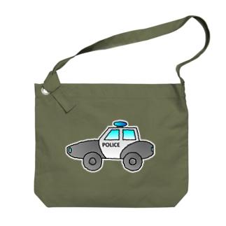 警察車両 Police Car Big shoulder bags