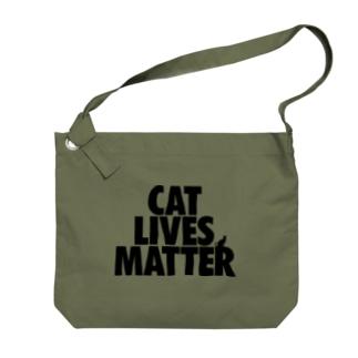 CAT LIVES MATTER Big shoulder bags
