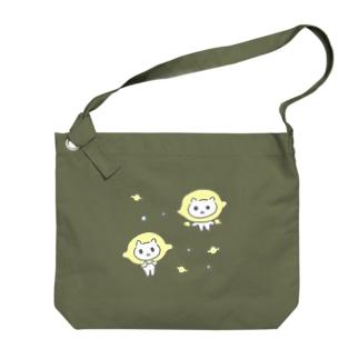 Lemon Cat ねこレモン🍋 Big shoulder bags