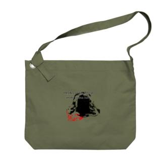 sauna hat & cat Big shoulder bags