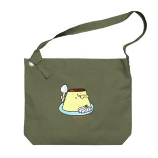 プリンくん(クリーム) Big shoulder bags