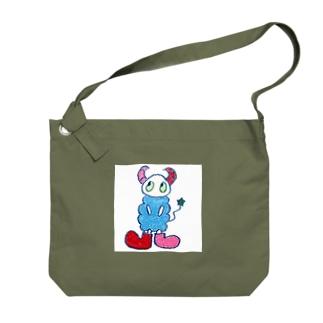 a:kumoシリーズ_スクエア Big shoulder bags
