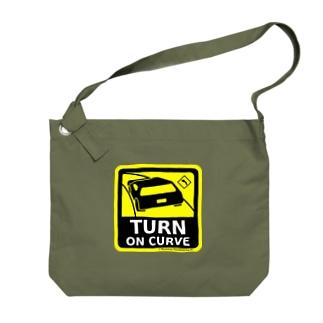 TURN ON CURVE Big shoulder bags